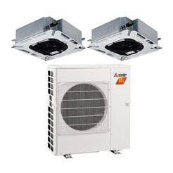 Mitsubishi Dual Zone Ceiling Recessed Ductless Mini Splits