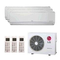 Tri Zone Wall Mounted Ductless Mini Splits