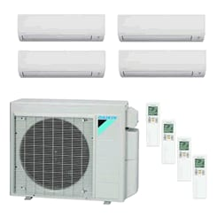 Quad Zone Wall Mounted Ductless Mini Splits