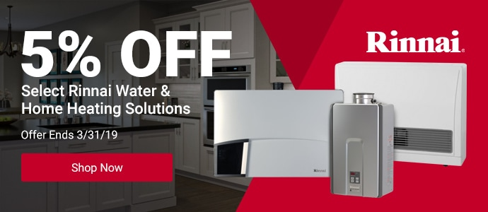 5% Off Select Rinnai Heating Solutions