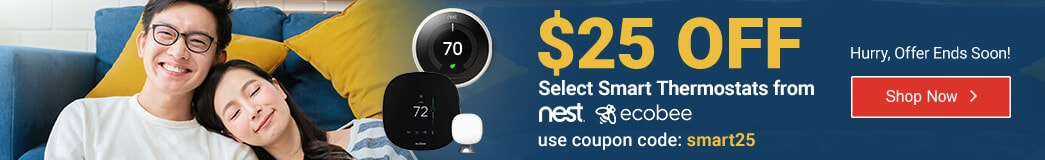$25 Off Select Smart Thermostats